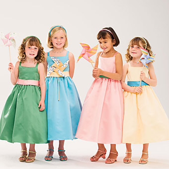 Different types of little flower girl dresses flower for Little flower girl wedding dresses